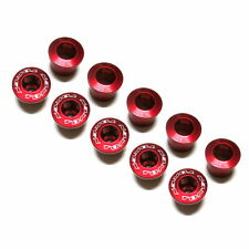gobike88 TOKEN AL-K083 Crank Bolts, Al 7075, for Shimano and SRAM, Red, C58
