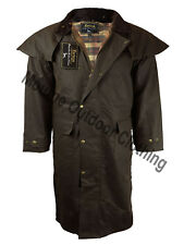 New Mens Ladies Éirinn Country Wear Stockman Long Cape Wax Riding Coat Jacket