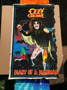 Vintage 1980's Ozzy Osbourne Diary of a Madman Blacklight Poster Rock Music Rare