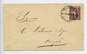 Paraguay POSTAL STATIONERY envelope USED 1898 (X554)