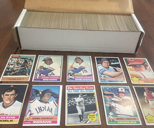 1976 Topps Complete Set, Super Nice - Eck ROOKIE, Brett, Yount 2nd Year, Rose+