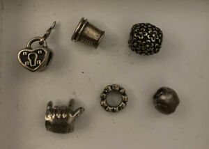 "Lot Of Six ""Cham"" Bracelet Charms"