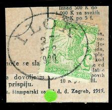 1919 Yugoslavia SLOVENIA Litho.SC#3L2 used CROATIA CD:ILOK 1920  cover cut off