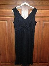 Silk Assets by Diane von Furstenberg Black Lace Dress Small  NEW