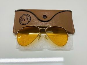 Vintage Ray-Ban Aviator Ambermatic Bausch& Lomb sunglasses 58mm New!!!