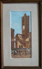 ARTE NAIF- Brescia: il Broletto - olio su tavola ENRICO COPETTA CO.EN 1925-1989