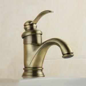 Antique Bronze Vanity Basin Tap Single Handle One Hole Deck Mixer Water Faucet