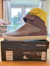 Supra Tk Society - Grey Suede/Neon (Size 9 UK) - Deadstock/Very Rare