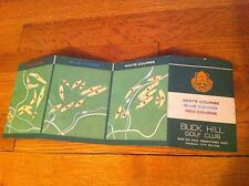 old Buck Hill Golf Club Falls Pennsylvania Red Blue White Course Map Score card