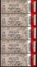 Linkin Park Tickets Projekt Revolution 5 Rare Unused Concert Mansfield Comcast
