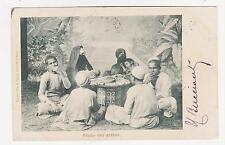 Egypt,North Africa,Arab Family Eating,Used,2 Egyptian Stamps,Alexandria,1903