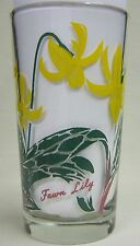 Fawn Lily Peanut Butter Glass Glasses Drinking Kitchen Mauzy 58-1
