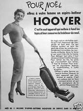 PUBLICITÉ 1953 HOOVER POUR NOËL OFFREZ À VOTRE FEMME UN ASPIRO BATTEUR