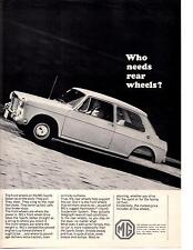 1965 MG SPORTS SEDAN  ~  CLASSIC ORIGINAL PRINT AD