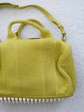 $875 Alexander Wang Yellow Pale Gold Studded Rocco Duffle Shoulder Bag Citrus