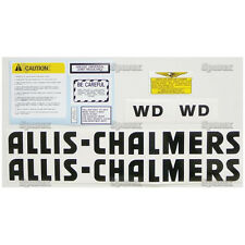 New Allis Chalmers WD Complete Decal Set (Black Letters)