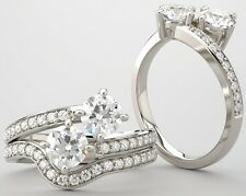 1.50 tcw, 2 Round Diamond Ring 00004000  14k White Gold 0.50 ct each Si1