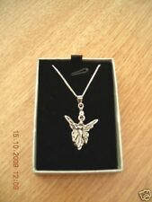 """SILVER ANGEL FAIRY PENDANT NECKLACE ON 18"""" 925 STERLING SILVER CHAIN BRAND NEW"""