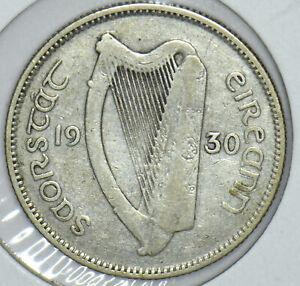Ireland 1930 Harp Shilling Ox animal 290992 combine shipping