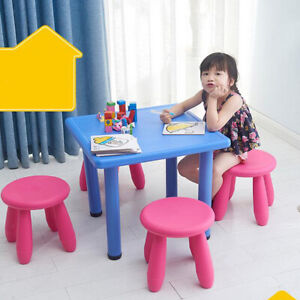 Childrens Stool Chair Kids Plastic Toddler Play Room Round Seat 12 Inch