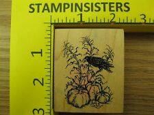 Rubber Stamp PSX Crow with Pumpkins F2173 Halloween Fall Stampinsisters #843