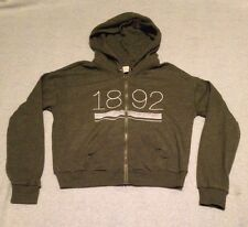 Women's Abercrombie and Fitch Green zip up hoodie large SZA