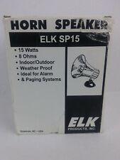 Horn Speaker Elk Sp15 15 watt 8 ohm Indoor/Outdoor Alarm or Paging