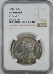 1823 Capped Bust Half Dollar NGC AU Details Cleaned - No Reserve 99C Opening Bid
