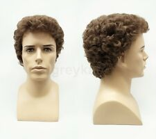 Lightest Brown #12 Short Curly Mens Synthetic Fashion Wig
