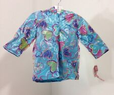 WIPPETTE TODDLER GIRL FLEECE LINED HEARTS HOODED RAIN JACKET 24M NWT
