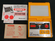 Boxed Nintendo Game and Watch Panorama Snoopy Vintage 1983 MADE IN JAPAN