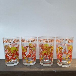 Vintage 1974 Speedy Snaps Up the Cheese Looney Tunes Welchs Jelly Juice Glasses
