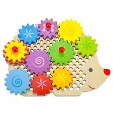 Gizmo the Hedgecog Wooden Gear Puzzle   Developmental Motor Skills Toy