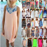 Women's Summer Short Mini Dress Casual Bikini Cover Up Kaftan Beach Wear Dress