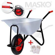 Masko® Schubkarre 100 Liter Transportwagen 250kg Garten Luftrad Gartenkarre NEU