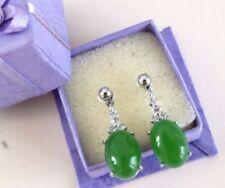 Jade Drop/Dangle Oval Costume Earrings