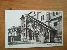 CPA - Meaux - L'escalier du vieux chapitre 1954 timbre Quimper