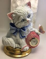 Maggie Murphy 'Purr-fect Time' Clock Limited Edition NOS 1999 Kitten Yarn Butter