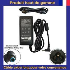 Chargeur d'Alimentation 19,5V 3,33A 65W Pin Bleu Pour Ordinateur PC Portable HP