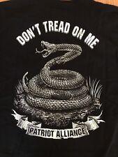 Patriot Alliance - DON'T TREAD ON ME Black T Shirt MENS XL