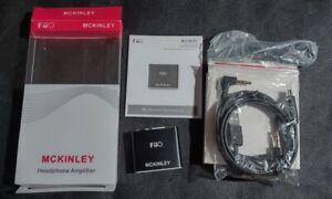 MCKINLEY FiiO E05 Ultra Portable Mini Headphone Amplifier Black w/ Accessories