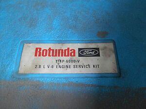 1974 + FORD MUSTANG II PINTO MERCURY CAPRI 2.8L ENGINE SERVICE TOOLS KIT SET OEM