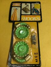 VINTAGE MID CENTURY  decorative hooks NEVCO SET OF 2 NOS
