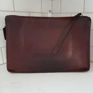 Vintage Coach Early RARE Large Portfolio Clutch In Rich Merlot NYCity Pretty!