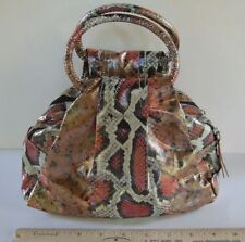 SR SQUARED by Sondra Roberts Faux Snake Skin Bag, NWOT