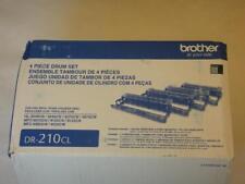 New Pack of 4 Toner (Drum Set) Brother DR-210CL 4 Piece Drum Set Genuine