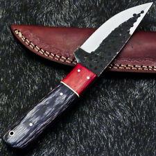 Custom Hand Forged Railroad Spike Carbon Steel Fixed Skinning Blade Knife 1193