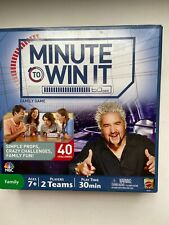MINUTE TO WIN IT Family Game - 40 Challenges - Mattel - Incomplete