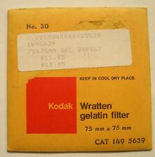 Kodak wratten GELATINA Filtro No 30 7.6cm OR 75mm Cuadrado ABIERTO