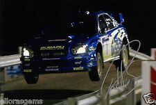 "Petter Solberg World Rally Champion 03 SUBARU IMPREZA HAND SIGNED PHOTO 12x8"" Bj"